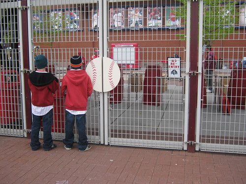 Waiting to get in at Citizens Bank Park