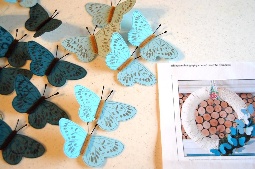 making my butterflies
