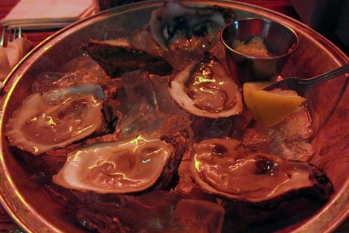 1/2 dozen oysters with pickled ginger wasabi and soy