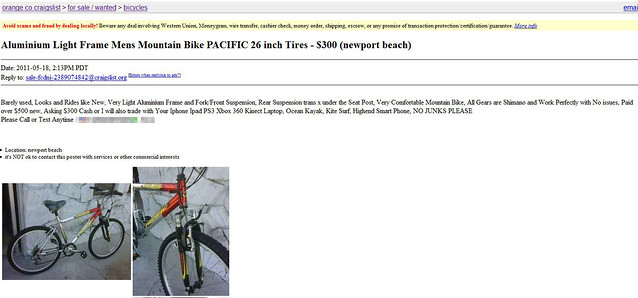 Craigslist bike