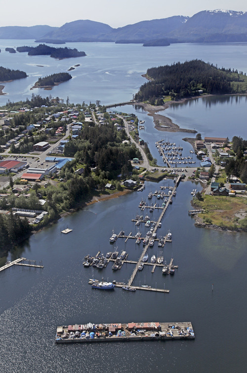aerial photo of Craig Harbor and its environs, Craig, Alaska