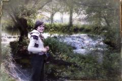 cascade 1977_260 (mich53 - (Thanks for 1700000 Views!)) Tags: portrait color film river women natural rivire archives fujifilm 1977 cascade campagne printemps paysages argentique sarthe autrefois analogique epsonv700photo