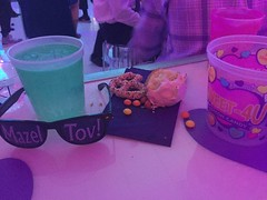 42/365 (moke076) Tags: 2017 365 project 365project project365 oneaday photoaday cell cellphone iphone mobile bat mitzvah party club atmosphere lights bright candy bar drinks sunglasses mazel tov cupcake leftovers detritus pink
