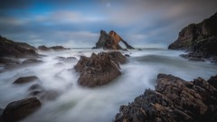 Clouds All Around (Augmented Reality Images (Getty Contributor)) Tags: bowfiddlerock canon clouds coastline landscape leefilters littlestopper longexposure morayshire portknockie rocks scotland seascape water waves