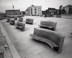 Stone Seats (Dan Bennett2891) Tags: camera bw white black mamiya film dan club canon photography eos iso100 noir kodak scan negative solent medium format analogue bennett tmax100 rb67 danbennett
