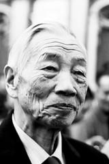 [フリー画像] [人物写真] [一般ポートレイト] [老人/お年寄り] [おじいさん/おじいちゃん]  [中国人] [黄英儒] [モノクロ写真]    [フリー素材]