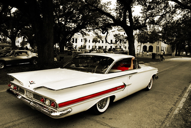 red white classic chevrolet sepia vintage cutout mississippi nikon antique chevy impala 2009 60 1960 gulfport selectivecolor d60 7706 cruisinthecoastcarcentral