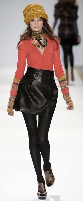 Nanette Lepore sweater look Fall 2009