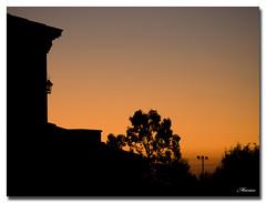 Siluetas... (Marian Blasco fotografa) Tags: espaa luz contraluz arbol casa spain olympus amanecer toledo cielo vista silueta farol sombras castillalamancha e510 oltusfotos marian2705
