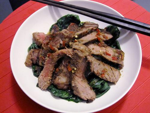 Thai-Inspired Beef & Pak Choy
