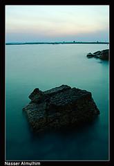 Sea Rock (Nasser Almulhim ) Tags: sea seascape rock canon 1855mm nasser 450d almulhim