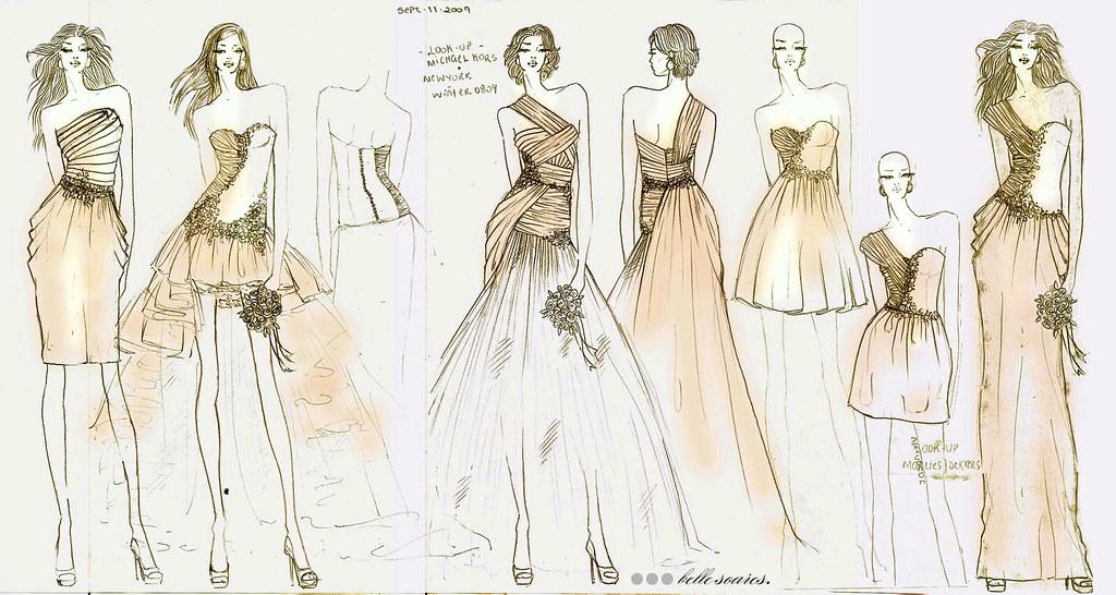 les petites belles choses first sketches for bride