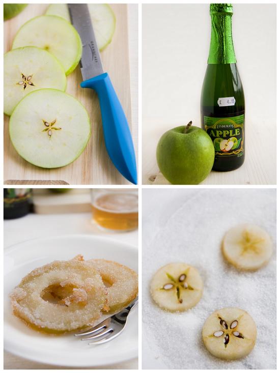 Collage frittelle di mele verdi