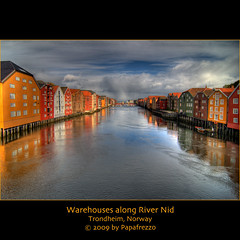 Warehouses along the Nid River - Trondheim, Norway (Papafrezzo,  2007-2012 by www.papafrezzo.com) Tags: nid norway river trondheim hdr warehouses nidelva noorwegen