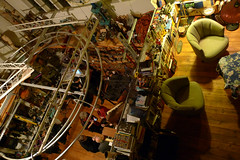 an evening with Trimpin (enso-on) Tags: seattle sculpture music art night studio evening gathering birdseyeview trimpin