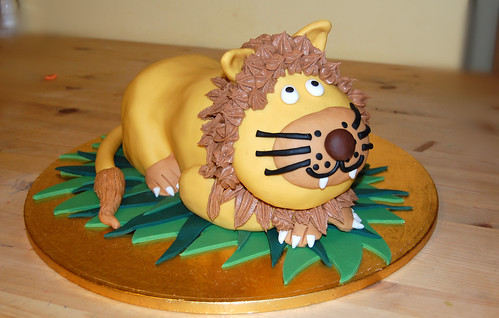 Sitting lion cake Beautiful Birthday Cakes