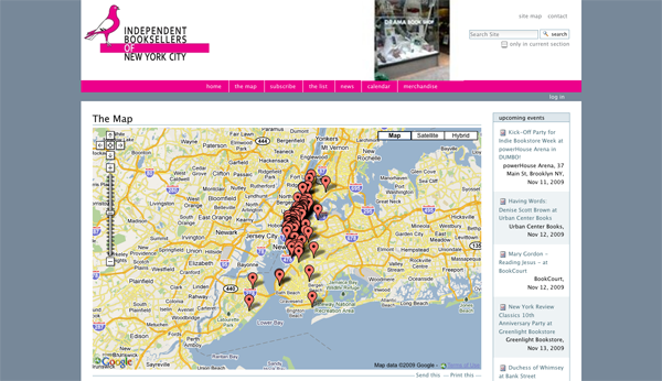 The Map — Independent Booksellers of NYC_1257453284517