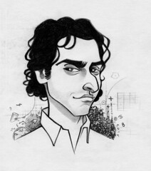Charlie Eppes (nacho.prieto) Tags: david pencil sketch cartoon charlie caricatura boceto lpiz eppes numb3rs krumholtz