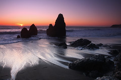 Rodeo Beach - Marin Headlands (the_tahoe_guy) Tags: ocean travel pink sunset wallpaper vacation favorite usa beach beautiful canon photography eos photo interesting rocks colorful waves pacific weekend creative commons best pacificocean creativecommons 1740mm marinheadlands mustsee rodeobeach 40d thetahoeguy