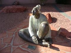 Sedona Medical Center (twm1340) Tags: arizona art statue lady country scenic sedona az center medical figure redrock