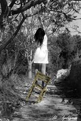 Suicide (aliaydogmus35) Tags: life bw tree love girl canon turkey chair kill die