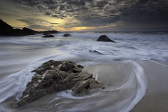 (maxxsmart) Tags: ocean california sunset seascape water clouds canon landscape movement sand rocks explore lee sonomacounty frontpage bodegabay bodegahead 1740f4l 5dmarkii leendgrad