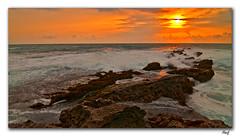 Drama in the sky (maninerror (hanif)) Tags: sea sky sun seascape rock indonesia landscape tamron1750mmf28 tokina1116mmf28
