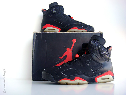 Sunshining7 - Nike Air Jordan VI - 1991 - OG Black Infrared III - a photo  on Flickriver acd514a10