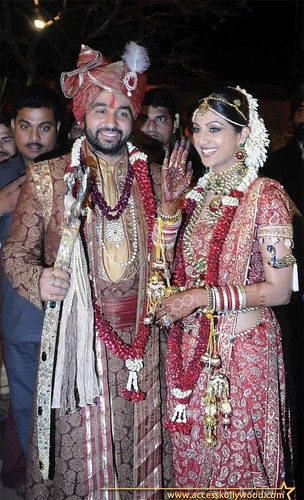 Shilpa Shetty and Raj Kundra marriage photo