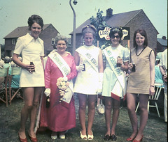 Ashton Festival 1969. Carnival Queen (Lazenby43) Tags: 1969 fashion lancashire cocacola 1960s miniskirt sixties wigan carnivalqueen ashtoninmakerfield