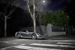 599 GTB - Night (Amaury AML) Tags: auto street city light red moon white black paris tree cars car sport fog night lune rouge italian automobile italia lumire engine atmosphere ferrari voiture exotic moonlight legend arbre brouillard exotics gtb 430 monza amaury 599 aml fiorano transaxle mecanic