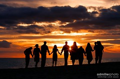 All in the Family (a.d.miller) Tags: family sunset portrait beach clouds canon 85mm pensacola goldenhour pensacolabeach 40d