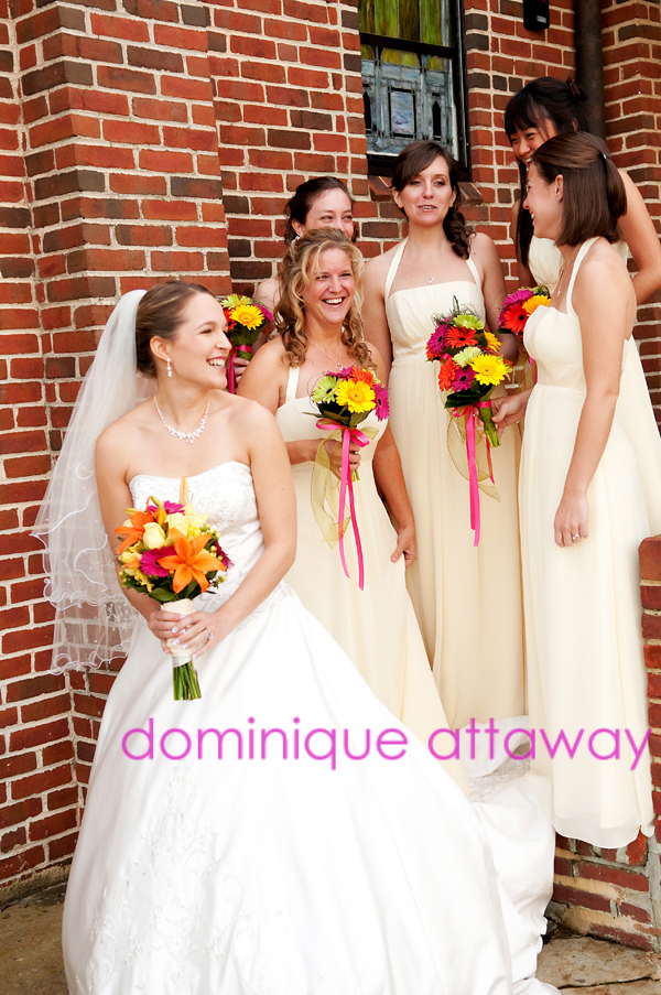 bride and bridesmaid photography