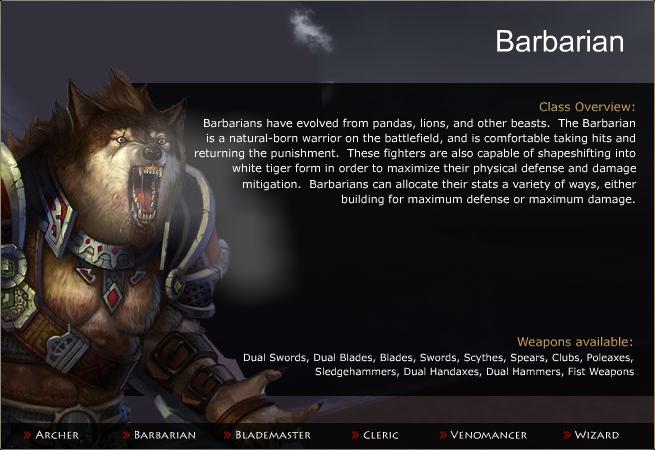 class - Barbarian