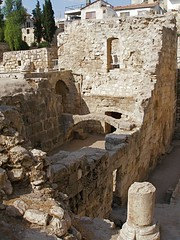 Remains of a pagan temple, Byzantine basilica and Crusader chapel Bethesda (Seetheholyland.net)