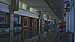 Tulsa HDR (CameliaTWU) Tags: usa reflection oklahoma america reflections hall airport unitedstates unitedstatesofamerica hallway tulsa hdr tul tulsaairport tulsainternationalairport