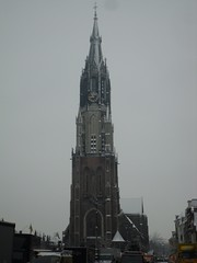 Nieuwe Kerk, Delft (crwilliams) Tags: snow netherlands delft date:month=december date:day=17 date:year=2009 date:wday=thursday date:hour=08