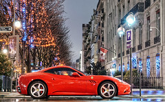 Ferrari California (__martin__) Tags: california christmas red night nikon nightlights nightshot ferrari christmaslights avenue spotting exotics montaigne spotter redferrari 1685 d80