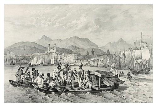 017-Bahia dos mineros en Rio Janeiro-Adam,Victor- Viagem pitoresca através do Brasil 1835