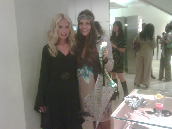 With Margarita Missoni with the special bag for Fashion's Night Out only 60 bucks!!!