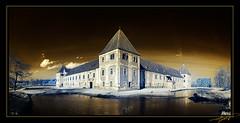 Schloss Hainfeld (Florian Gradwohl) Tags: old panorama orange lake color castle austria alt infrared schloss teich steiermark false burg styria falsecolor naturesfinest feldbach hainfeld topseven mywinners abigfave platinumsuperstar artofimages magicunicornverybest