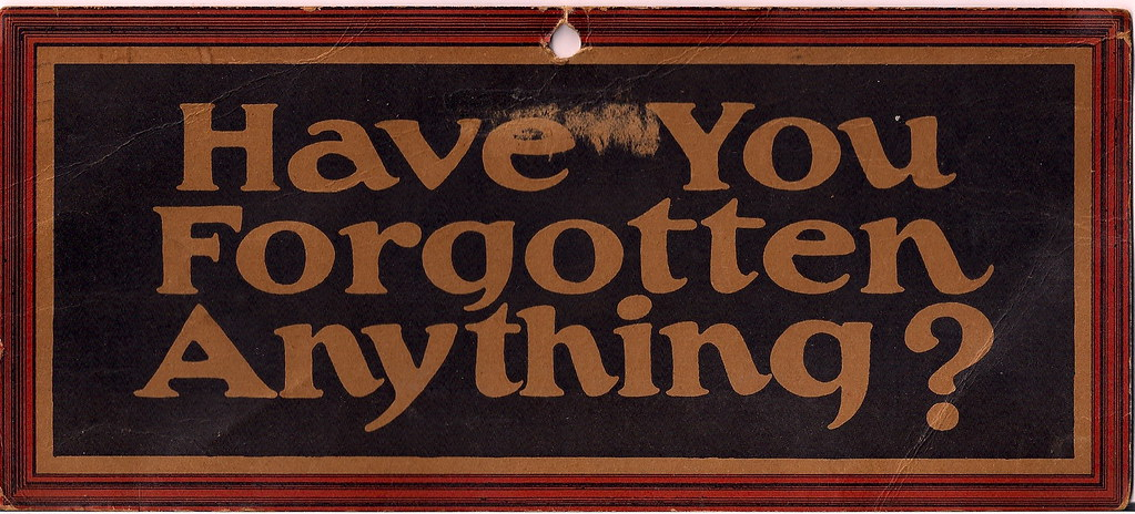 """Have you forgotten anything?"" - Dayton - IBM shop card - 1928"