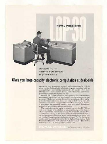 Computadora digital tamaño escritorio (1959)