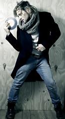 Music in the Air (Simy _Elisewin) Tags: boy portrait music man fashion disco model air moda uomo musica disc aria giuseppe ragazzo modello barbato