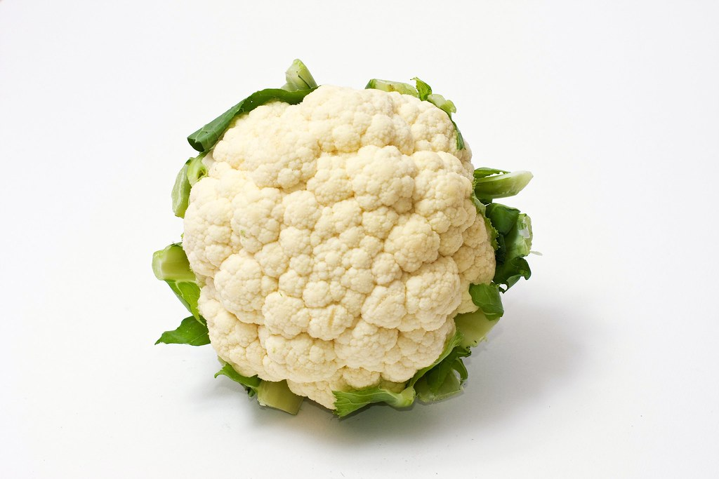 White cauliflower with green leaves by Horia Varlan, on Flickr