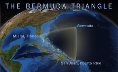 The Bermuda Triangle is a region in the western part of the North Atlantic Ocean in which ships, planes, and people are alleged to have mysteriously vanished.