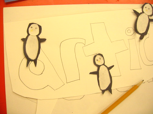 Amazing penguins done for our ecosystem project by three 4th graders!