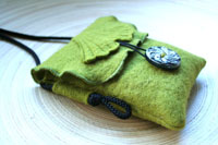 "moss green mini purse...""gingko biloba""... the master of renewal"