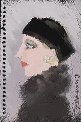 Ella Always Looked Elegant (Flick Chick2) Tags: portrait art fashion mobile painting hats brushes russian inspire app iphone iphoneapp iphoneillustration iphonepainting iphonefashionillustration