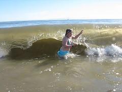 Funniest Clip Ever (Travis S.) Tags: ocean california beach water santabarbara tongue movie video funny kim crash north wave clip pacificocean foam goletabeach crashing slammed wagging goleta swallowed knockedover